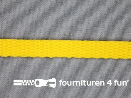 Halsband uni colour 10mm geel