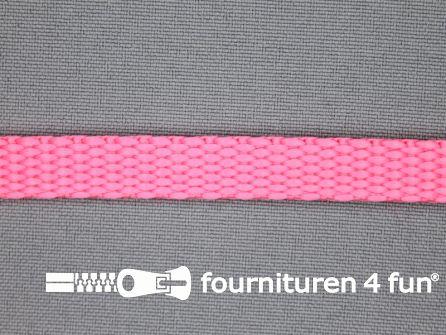 Halsband uni colour 10mm fel roze