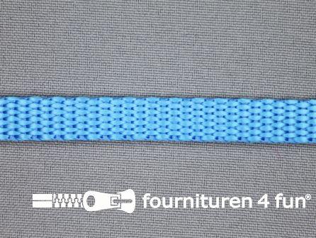 Halsband uni colour 10mm aqua blauw