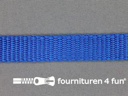 Halsband uni colour 15mm kobalt blauw