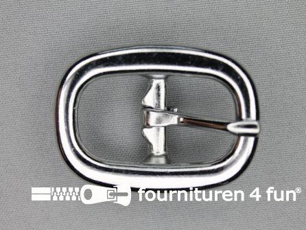 Halster gesp 20mm heavy duty - zilver