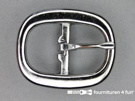 Halster gesp 25mm heavy duty - zilver