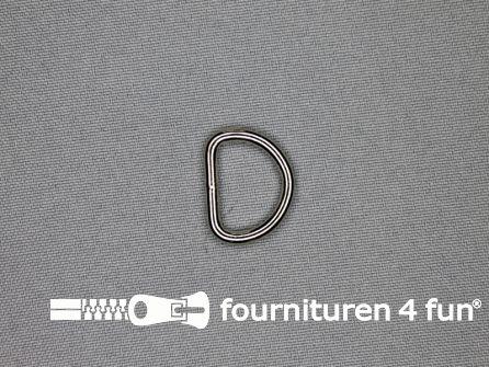 Heavy duty D-ringen 18mm vernikkeld