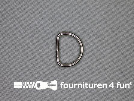 Heavy duty D-ringen 20mm vernikkeld