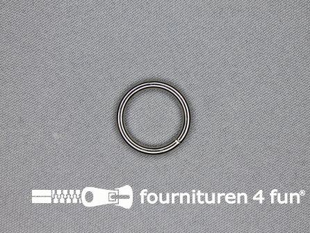 Stalen ring 15mm vernikkeld