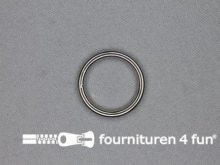 Stalen ring 20mm vernikkeld
