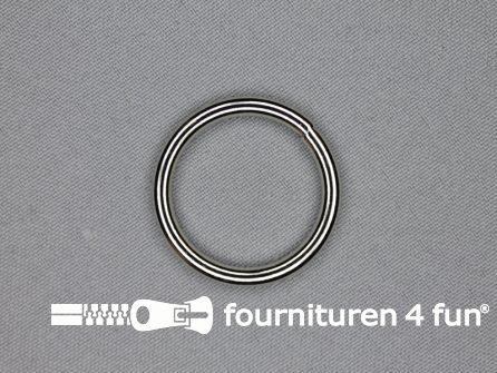Stalen ring 25mm vernikkeld