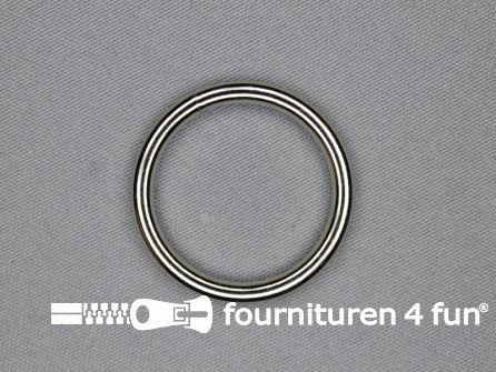 Stalen ring 30mm vernikkeld