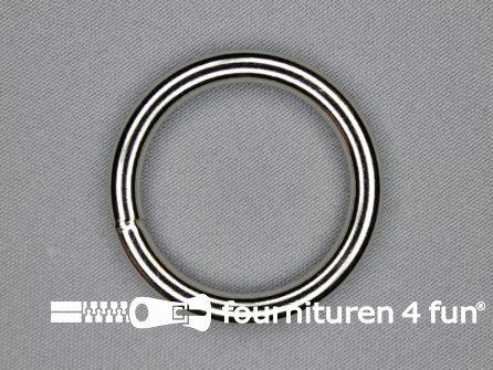 Stalen ring 35mm vernikkeld