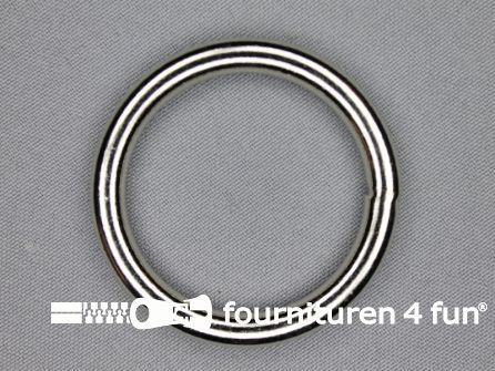 Stalen ring 40mm vernikkeld