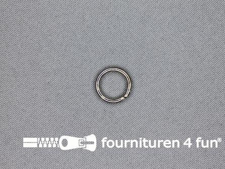 Metalen ring 10mm vernikkeld per 10 stuks