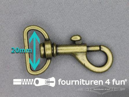 Musketon 20mm brons