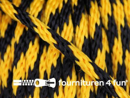 Polypropyleen touw 6mm geel - zwart