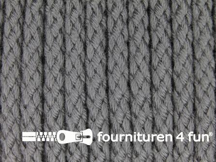 Jassen koord 4mm donker grijs