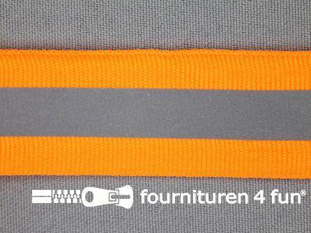 Reflecterende band 25mm neon oranje