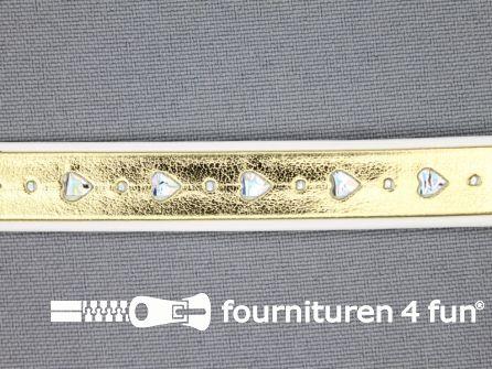 Synthetische halsband 13mm hartje - goud