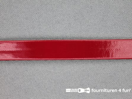 Synthetische halsband 10mm rood
