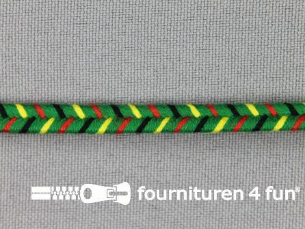 Soutache koord 6mm multicolor - groen