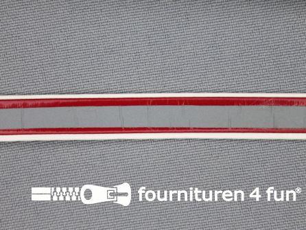Synthetische halsband 10mm rood - reflectie