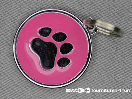 Halsband decoratie 30mm  pootje - roze