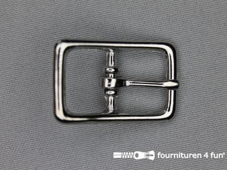 Halster gesp 17mm heavy duty - chroom