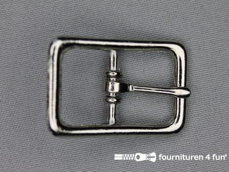 Halster gesp 20mm heavy duty - chroom