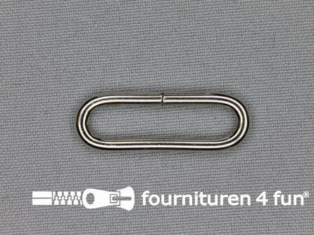 Schuifpassant 30mm zilver