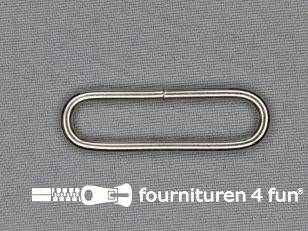Schuifpassant 40mm zilver