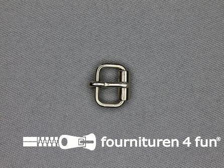 Metalen rolgesp 10mm zilver