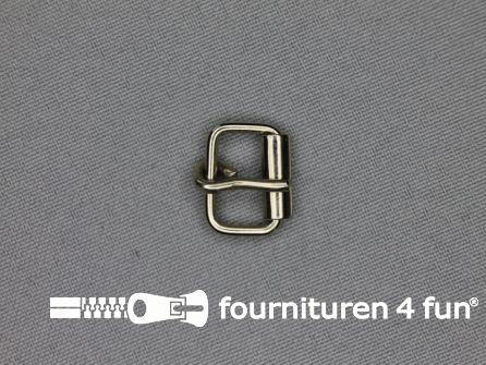 Metalen rolgesp 12mm zilver