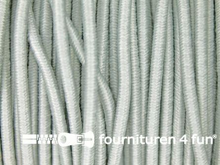 Rol 100 meter elastisch koord 2,5mm licht grijs