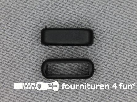 Schuifpassant 16mm zwart kunststof