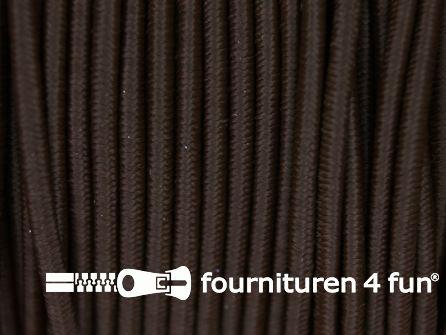 5 meter elastisch koord 2,5mm donker bruin