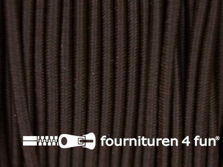 Rol 100 meter elastisch koord 2,5mm donker bruin