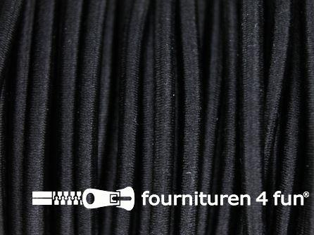 5 meter elastisch koord 2,5mm zwart