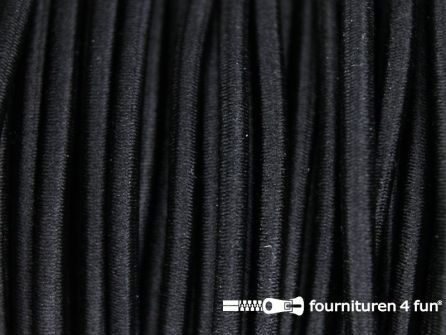 Rol 100 meter elastisch koord 2,5mm zwart