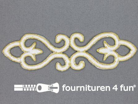 Goud - wit barok applicatie 121x34mm