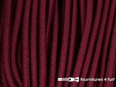 5 meter elastisch koord 2,5mm bordeaux