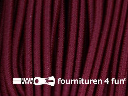 Rol 100 meter elastisch koord 2,5mm bordeaux