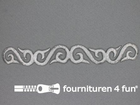 Zilver applicatie 180x23mm