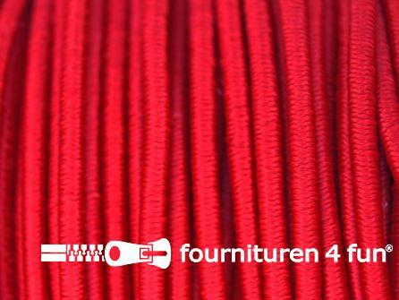 5 meter elastisch koord 2,5mm rood