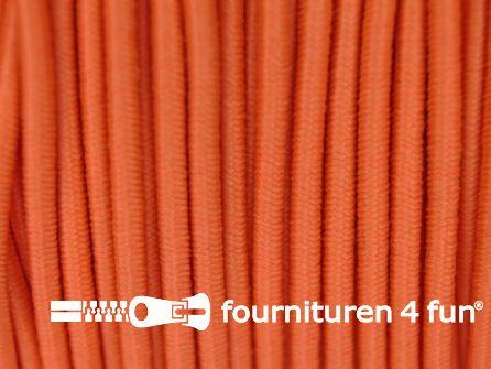 Rol 100 meter elastisch koord 2,5mm oranje