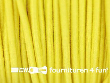 Rol 100 meter elastisch koord 2,5mm fel geel
