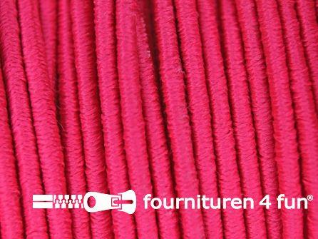 Rol 100 meter elastisch koord 2,5mm fuchsia roze