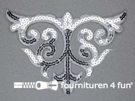 Pailletten applicatie 110x160mm zilver