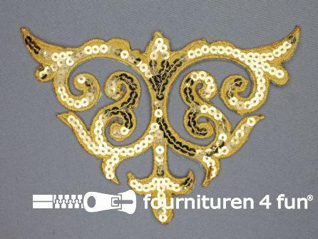 Pailletten applicatie 110x160mm goud