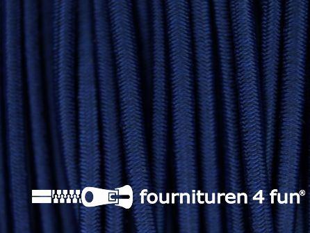 5 meter elastisch koord 2,5mm donker jeans blauw