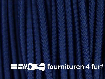 Rol 100 meter elastisch koord 2,5mm donker jeans blauw