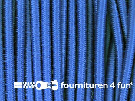 Rol 100 meter elastisch koord 2,5mm kobalt blauw
