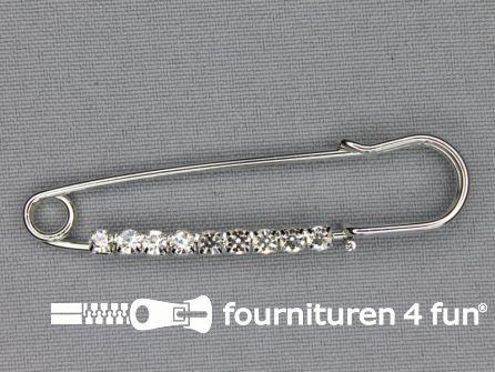 Kiltspeld 65mm strasstenen - zilver